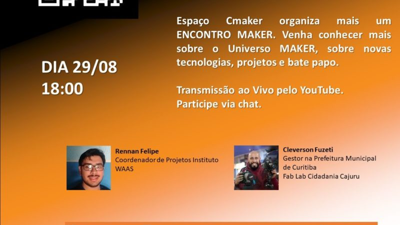 Live Espaço CMaker 29/08 18:00