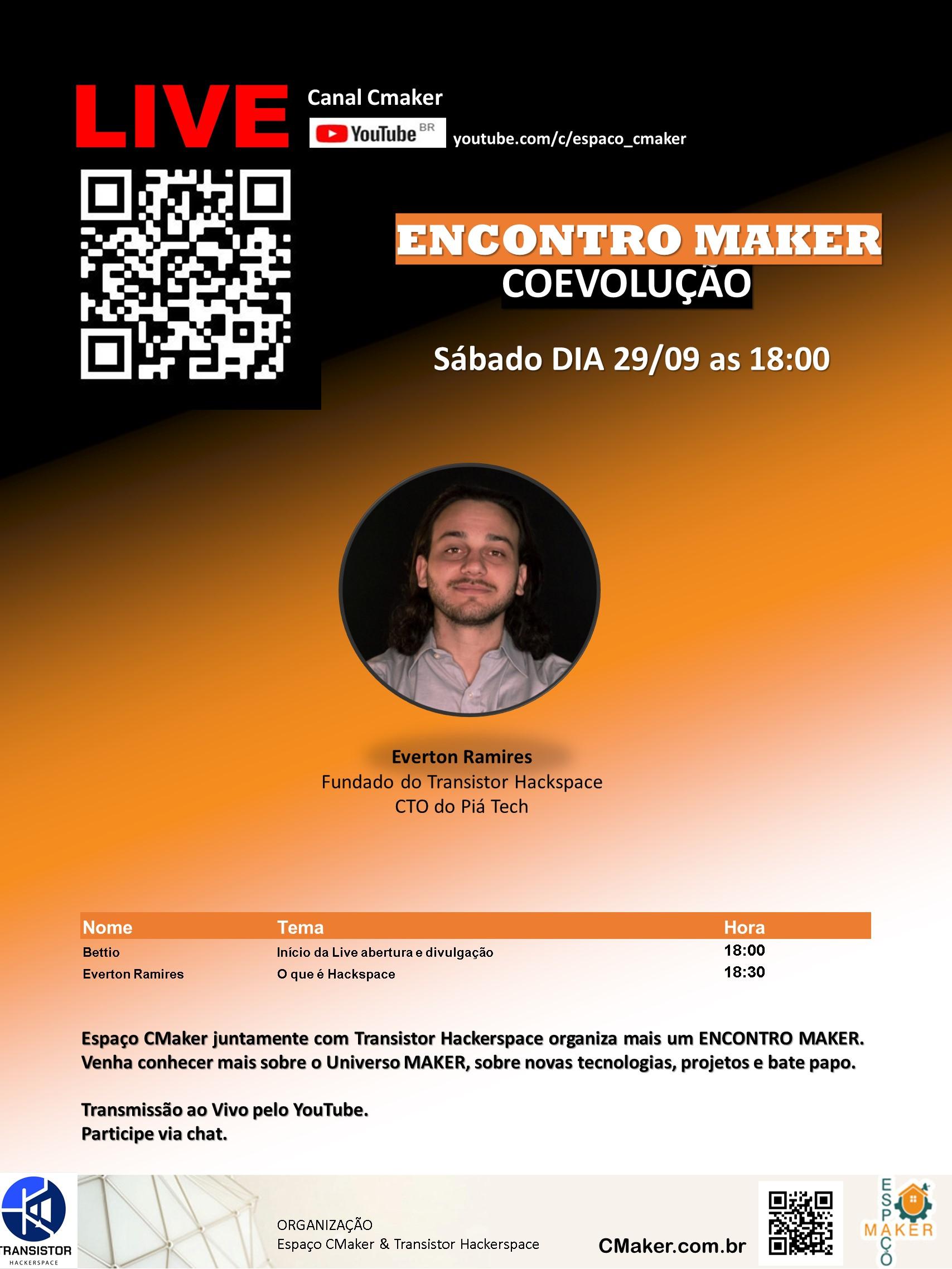 Live Espaço CMaker 26/09 18:00