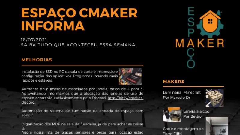 ESPAÇO CMAKER INFORMA (2021-07-18)