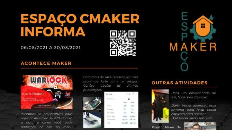 ESPAÇO CMAKER INFORMA (2021-08-20)